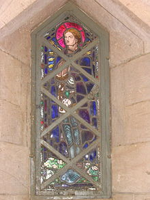 Stained Glass in the Republican Palace Museum, Khartoum, Sudan - Saint Sebastian.jpg
