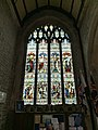 Stained glass window in St Andrew's Church, Buckland Monachorum 01.jpg
