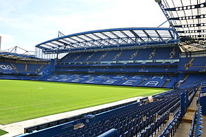 Stamford Bridge (stadium) - Image: Stamford Bridge Clear Skies