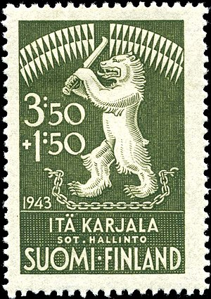 Postage stamps and postal history of Karelia - A semi-postal stamp of 1943.