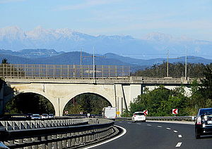 Stampetta Bridge - Image: Stampetta Bridge Slovenia