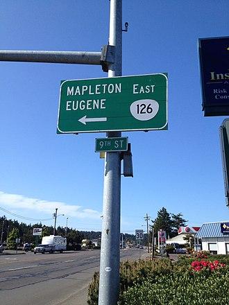 Oregon Route 126 - Start of Oregon Route 126