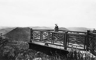 Picnic Point, Toowoomba - Lookout at Picnic Point, circa 1928