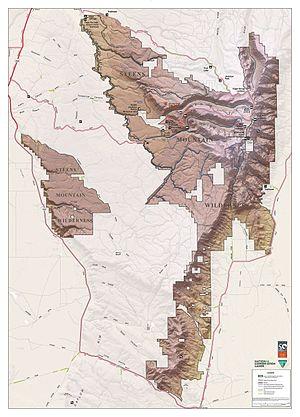 Steens Mountain - BLM Steens Mountain Wilderness Map