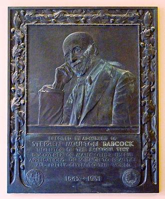 Stephen Moulton Babcock - Memorial plaque (1934) by Lorado Taft