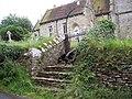 Steps and gate to All Saint's Church, Kington Magna - geograph.org.uk - 475273.jpg