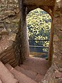 Steps down to the moat, Great Tower, Raglan Castle - geograph.org.uk - 1531764.jpg