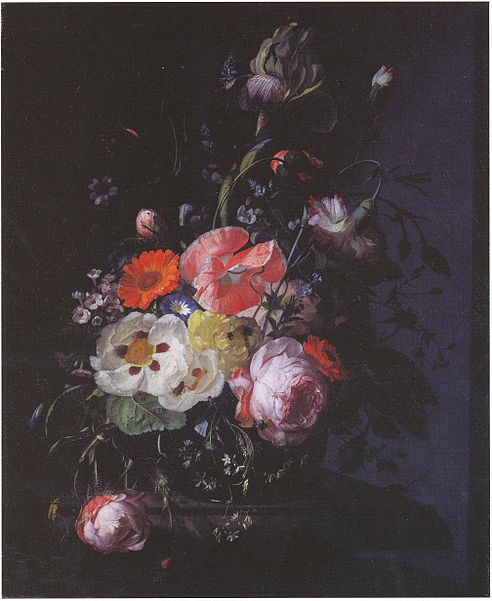 Still life of a floral arrangement 1716