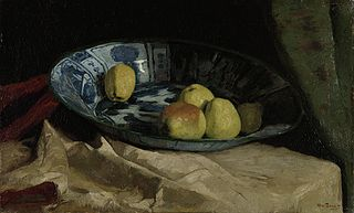 Still Life with Apples in a Delft Blue Bowl