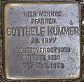 Stolperstein Arnstadt Pfarrhof 10-Gotthelf Kummer.JPG
