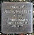Stolperstein Berliner Str 20 (Hermd) Lotte Wangenheim.jpg