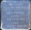 Stumbling block for Jeanette Sternberg (Alexianerstraße 34)