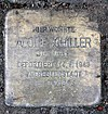 Stolperstein Kirchstr 85 (Marfe) Adolf Schiller.jpg