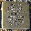Stolperstein Rika Katz (Griedeler Str.15 Butzbach).jpg