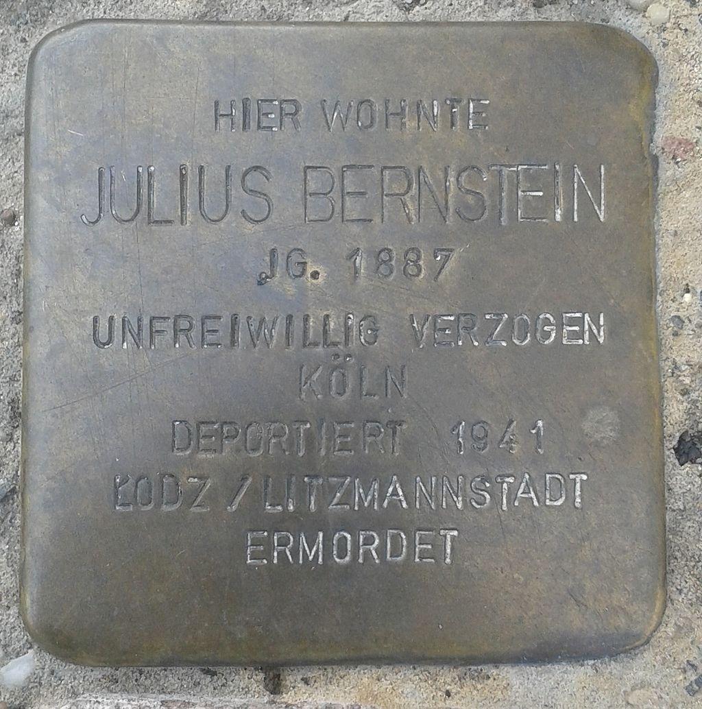 Stolperstein Selters Bahnhofstraße 11 Julius Bernstein