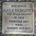 Stolperstein Verden - Agathe Baumgarten (1893).jpg