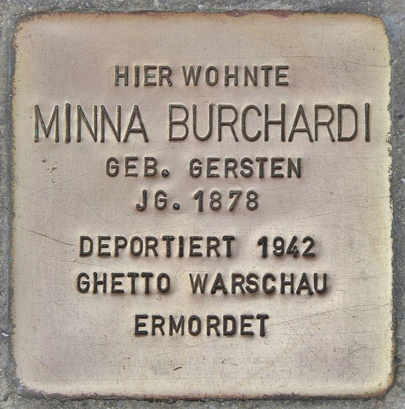 Stolperstein für Minna Burchardi (Lübben)