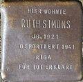 Stumbling block for Ruth Simons (Im Dau 12)