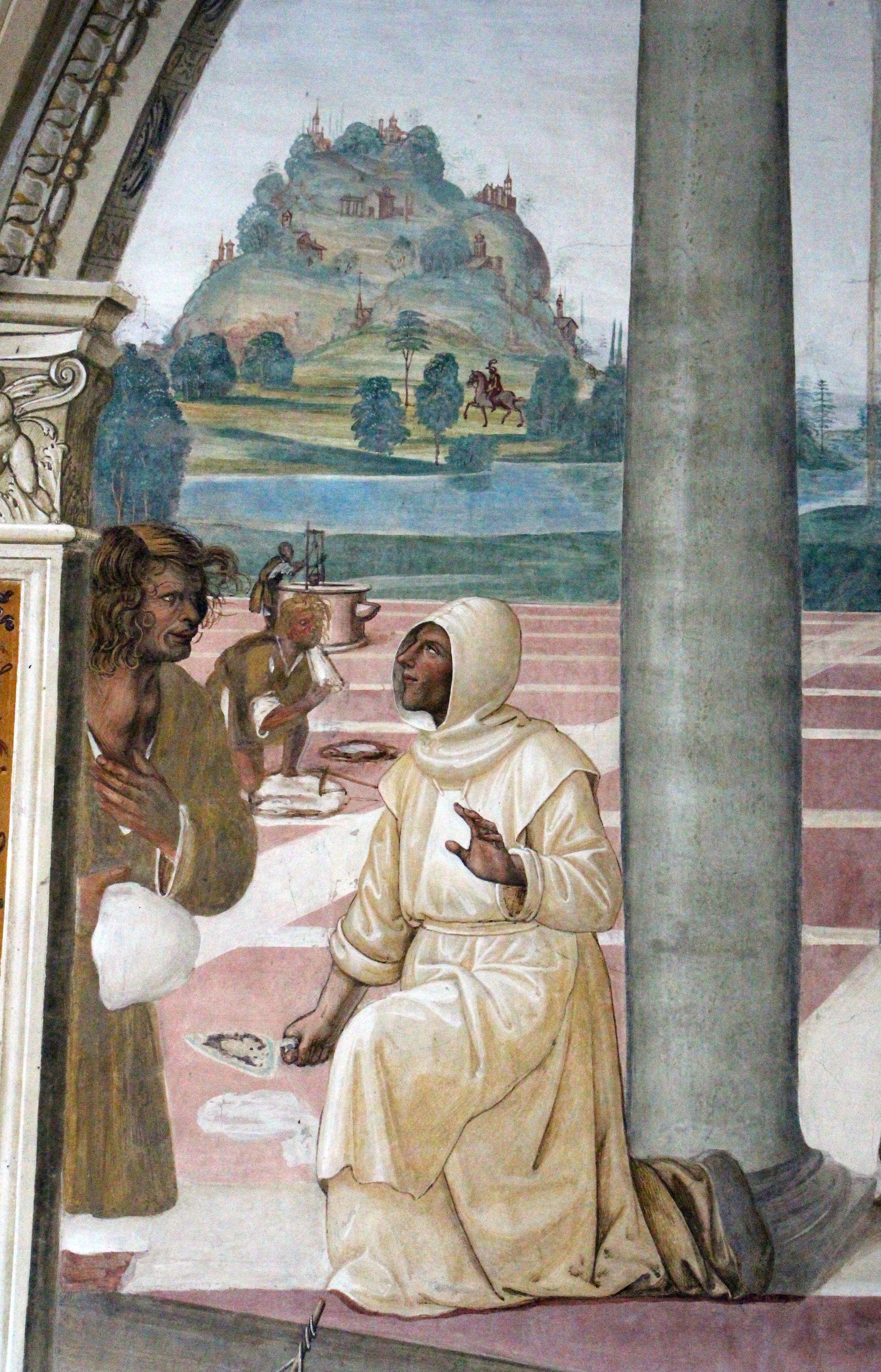 Storie di s. benedetto, 11 sodoma - Come Benedetto compie la edificazione di dodici monasteri 03