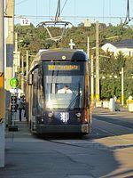 Straßenbahnwagen 2832 Dresden (140 Jahre Straßenbahn).jpg