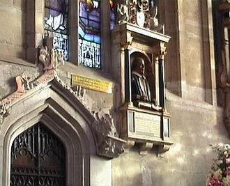 Gerard Johnson (sculptor) - Image: Stratford Holy Trinity Church 3