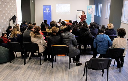Students from Leo Tolstoy school visit Wikimedia Armenia office 27.12.2017 (01).jpg
