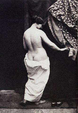 Buttock cleavage - Photograph by Julien Vallou de Villeneuve (1854)