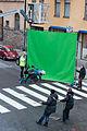 Stunt av Madeleine Trollvik vid inspelning av Kommissarie Späck 091022.jpg