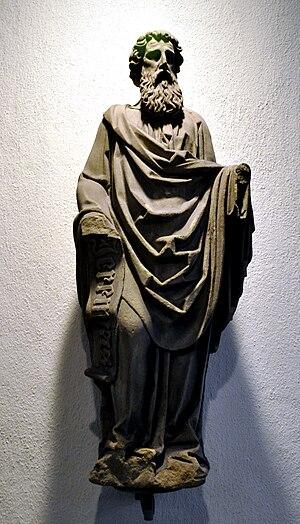 Stiftskirche Stuttgart, Prophetenstatue aus de...