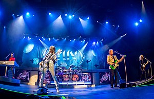 "Styx, 2017. L-R: Lawrence Gowan, Ricky Phillips, Todd Sucherman, James ""JY"" Young, and Tommy Shaw."
