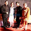 Sudesh Bhosle Hridaynath Mangeshkar Harish Bhimani.jpg