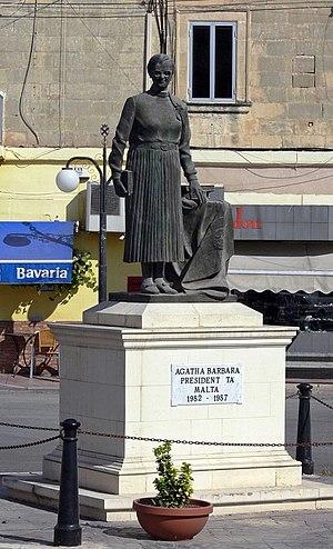 Agatha Barbara - Memorial to Barbara in Żabbar