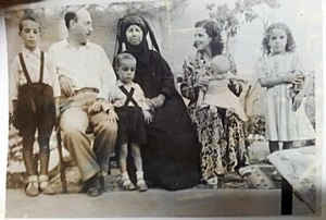 Suleiman Mousa - Suleiman Mousa with his wife, mother and children in 1953.