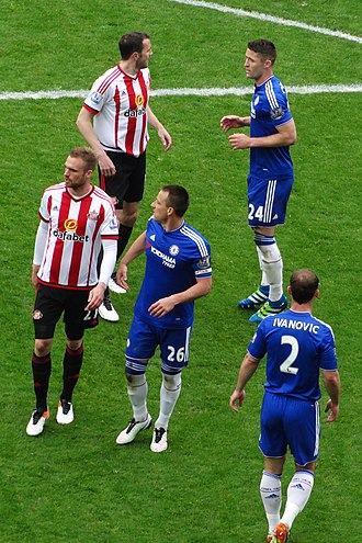 Jan Kirchhoff - Kirchhoff (left) playing for Sunderland against Chelsea in May 2016