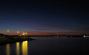 Belfast Lough - Sunset over Belfast Lough, viewed from Bangor.