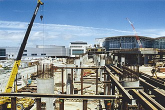 San Francisco International Airport station - The station under construction in 1999