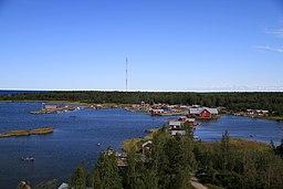 Svedjehamn i Björköby har set fra udsigtstårnet Saltkaret.