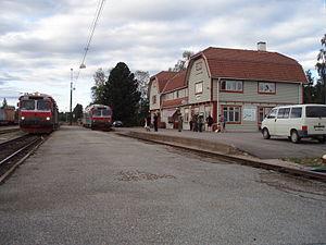 Härjedalen Municipality - Sveg railway station.