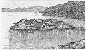 Swiss prehistoric lake dwellings. Wellcome M0015374.jpg