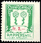Switzerland Rapperswil 1917 revenue 1 2Fr - 20A.jpg