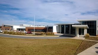 Pulaski County Special School District - Exterior view of entrance to Sylvan Hills Middle School that was constructed in 2011.