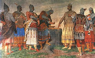 Magyar tribes - The Blood oath in Etelköz.