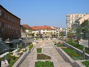 Szinva - The Szinva in the city centre, with the park Szinva Terrace.