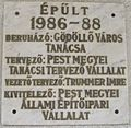Török Ignác High School plaque.JPG
