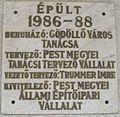 Török Ignác High School plaque.JPG