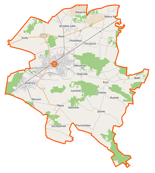 Fichier:Tłuszcz (gmina) location map.png