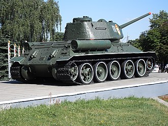 Korean People's Army Ground Force - Image: T 34 tank monument, Shulyavska metro, Kiev