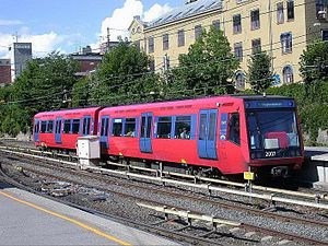 Oslo Metro - T2000 stock at Majorstuen