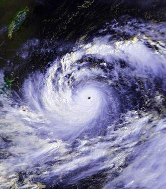 Typhoon Thelma (1987) - Image: T8705 Thelma