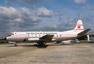 1959 Turkish Airlines Gatwick crash - Vickers Viscount painted in THY livery for a movie.